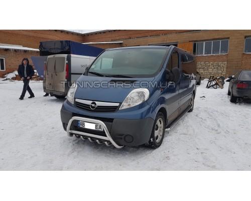 Защита переднего бампера для Opel Vivaro (2001-2014) NSPM.01.F1-03 d60мм x 1.6