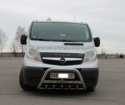 Передняя защита кенгурятник Opel Vivaro (01-14) NSPM.01.F1-09