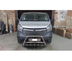 Защита переднего бампера для Opel Vivaro (2014+) NSPM.14.F1-09M d60мм x 1.6
