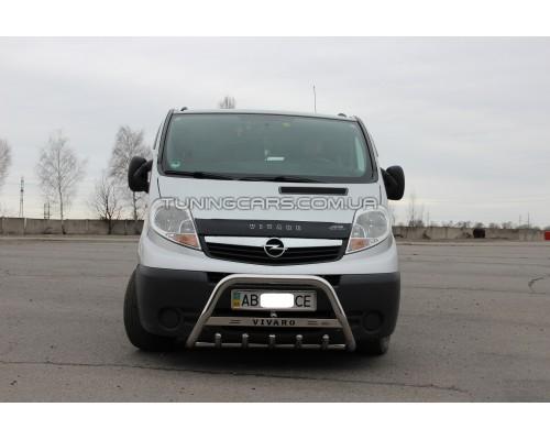 Защита переднего бампера для Opel Vivaro (2001-2014) NSPM.01.F1-09 d60мм x 1.6