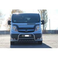 Защита переднего бампера для Opel Vivaro (2001-2013) NSPM.01.F1-37 d60мм x 1.6