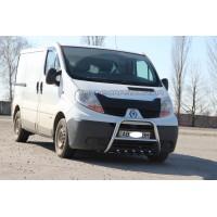 Защита переднего бампера для Opel Vivaro (2001-2013) NSPM.01.F2-04 d60мм x 1.6