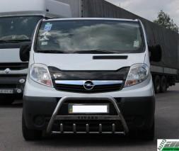 Кенгурятник Opel Vivaro WT004 (с надписью)