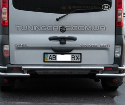 Защита заднего бампера для Opel Vivaro (2014+) NSPM.14.B1-18 d60мм x 1.6