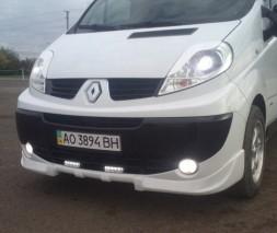 Накладка на передний бампер Opel Vivaro (2006+), Опель Виваро