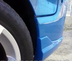 Клыки на задний бампер Opel Vivaro, Опель Виваро