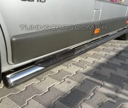Пороги трубы с накладками Opel Vivaro (14+) NSPM.14.S1-02L