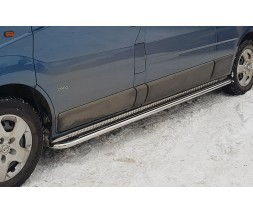 Пороги площадка для Opel Vivaro (2001-2014) NSPM.01.S2-01S d60мм x 1.6