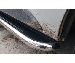 Пороги площадка для Opel Vivaro (2014+) NSPM.14.S2-04L длинная база d60мм x 1.6