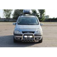 Защита переднего бампера для Opel Zafira (1999-2005) OPFR.94.F2-01 d60мм x 1.6