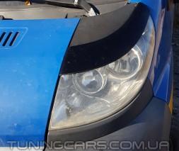 Накладки на фары (реснички) Peugeot Boxer (Широкие) 2006+, Пежо Боксер