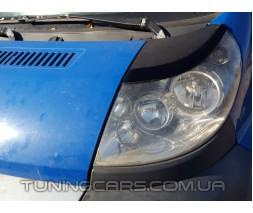 Накладки на фары (реснички) Peugeot Boxer (Узкие) 2006+, Пежо Боксер