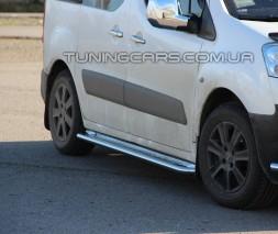 Пороги площадка для Peugeot Partner/Пежо Партнер (2008+) CTBL.08.S2-01 d60мм x 1.6