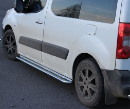 Пороги площадка для Peugeot Partner (2008+) CTBL.08.S2-01 d60мм x 1.6