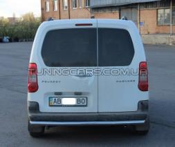 Защита заднего бампера для Peugeot Partner (2008+) CTBL.08.B1-02 d60мм x 1.6