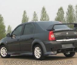 "Накладки на пороги Renault Dacia  Logan ""BK"", Рено Дача Логан"