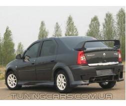 Накладки на пороги Renault Dacia  Logan BK, Рено Дача Логан