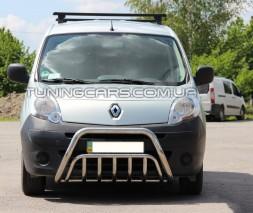 Защита переднего бампера для Renault Kangoo (2013+) RNKG.13.F1-02 d60мм x 1.6