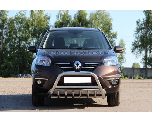 Защита переднего бампера для Renault Koleos (2008-2015) RNKL.08.F1-03M d60мм x 1.6