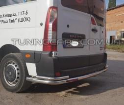 Защита заднего бампера для Renault Master (1998-2010) OPMV.98.B1-61-Led STOP d60мм x 1.6