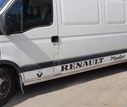 Пороги трубы для Renault Master (1998-2010) OPMV.98.S1-01S d60мм x 1.6