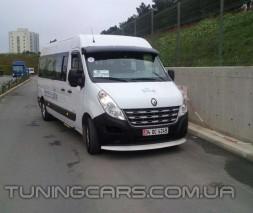 """Козырек лобового стекла """"Белый"""" (глянец) для Renault Master, Рено Мастер"""