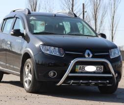 Кенгурятник Renault Sandero Stepway [2013+] WT003 (Inform)