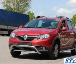 Кенгурятник Renault Sandero Stepway [2013+] WT007