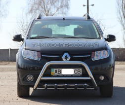 Защита переднего бампера для Renault Sandero-Stepway II (2012+) RNSS.12.F1-03M d60мм x 1.6