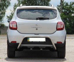 Задняя защита Renault Sandero Stepway [2013+] AK007 (Moon)