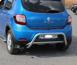 Защита заднего бампера для Renault Sandero-Stepway II (2012+) RNSS.12.B1-19 d60мм x 1.6
