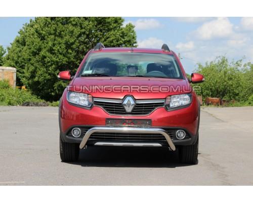 Защита переднего бампера для Renault Sandero-Stepway II (2012+) RNSS.12.F1-23 d60мм x 1.6