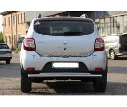 Защита заднего бампера для Renault/Dacia Sandero-Stepway II (2012+) RNSS.12.B1-02 d60мм x 1.6