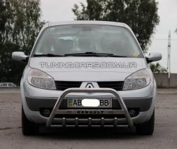 Защита переднего бампера для Renault Scenic II (2003-2009) RNSC.03.F1-09 d60мм x 1.6