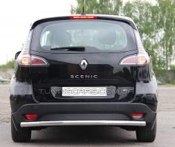 Защита заднего бампера для Renault Scenic III (2013-2015) RNSC.13.B1-02 d60мм x 1.6