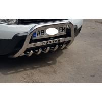 Защита переднего бампера для Dacia Duster (2010+) DCDS.10.F1-58 d60мм x 1.6