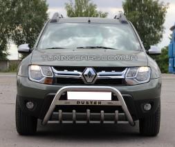 Защита переднего бампера для Renault Duster (17+) RNDT.17.F1-09M d60мм x 1.6