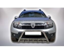 Защита переднего бампера для Renault Duster (2009+) RNDT.09.F1-09 d60мм x 1.6