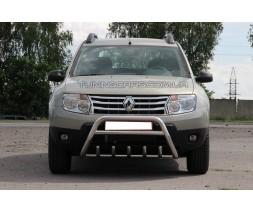 Защита переднего бампера для Renault Duster (2009+) RNDT.09.F1-20 d60мм x 1.6