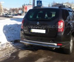 Защита заднего бампера для Dacia/Renault Duster (2010+) RNDT.09.B1-02 d60мм x 1.6