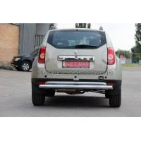 Защита заднего бампера для Dacia Duster (2010+) RNDT.09.B1-02 d60мм x 1.6