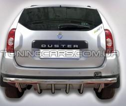 Защита заднего бампера для Renault Duster (2009+) RNDT.09.B1-25 d60мм x 1.6