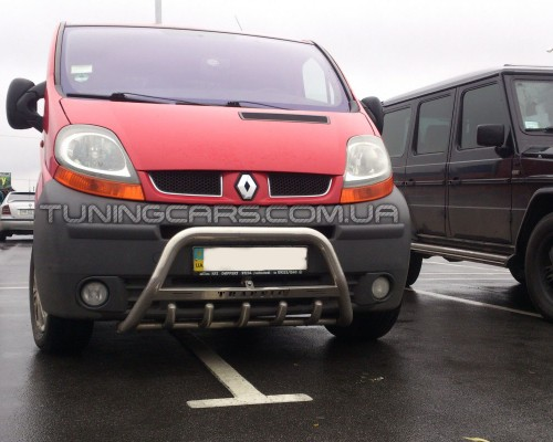 Передняя защита кенгурятник Renault Trafic (01-14) NSPM.01.F1-09