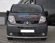 Защита переднего бампера для Renault Trafic (2001-2014) NSPM.01.F3-05 d60мм x 1.6