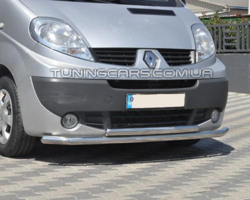 Защита переднего бампера для Renault Trafic (2001-2014) NSPM.01.F3-10 d60мм x 1.6