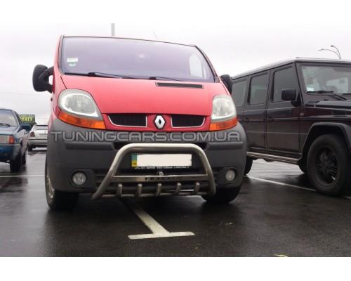 Защита переднего бампера для Renault Trafic (2001-2014) NSPM.01.F1-09 d60мм x 1.6
