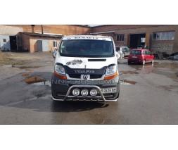 Защита переднего бампера для Renault Trafic (2001-2014) NSPM.01.F1-10 d60мм x 1.6