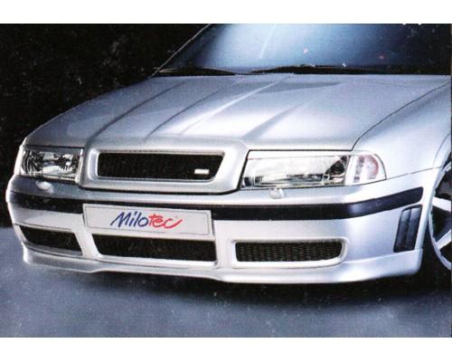 Накладка на передний бампер Skoda Octavia RS