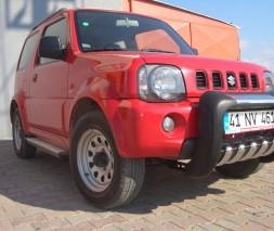 Пороги Suzuki Jimny [1998+] EB001 (Elegance Silver)