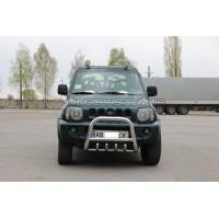 Защита переднего бампера для Suzuki Jimny (04+) SZJM.04.F2-01 d60мм x 1.6